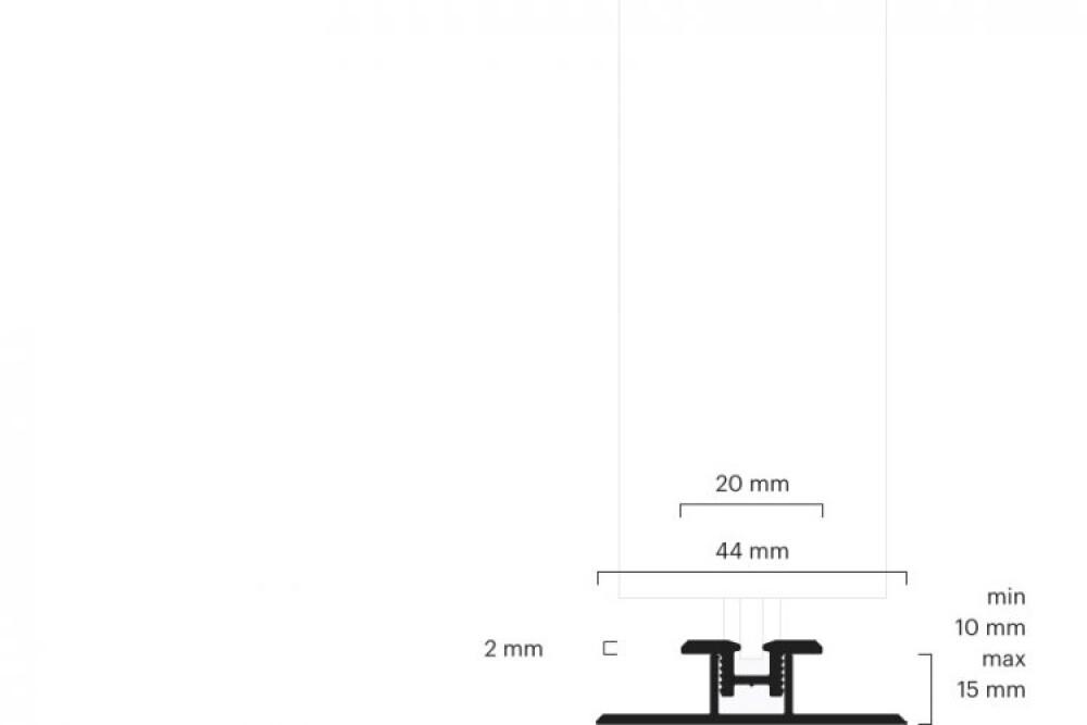 Laufschiene Schiebetür Laufschiene eingelasse 1-läufig mit Basisprofil 10100102