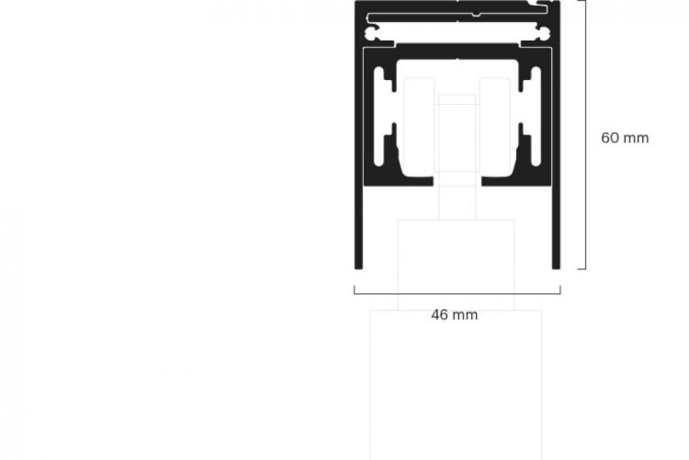 Laufschiene Schiebetür 1-laeufig mit Basisprofil 15010111