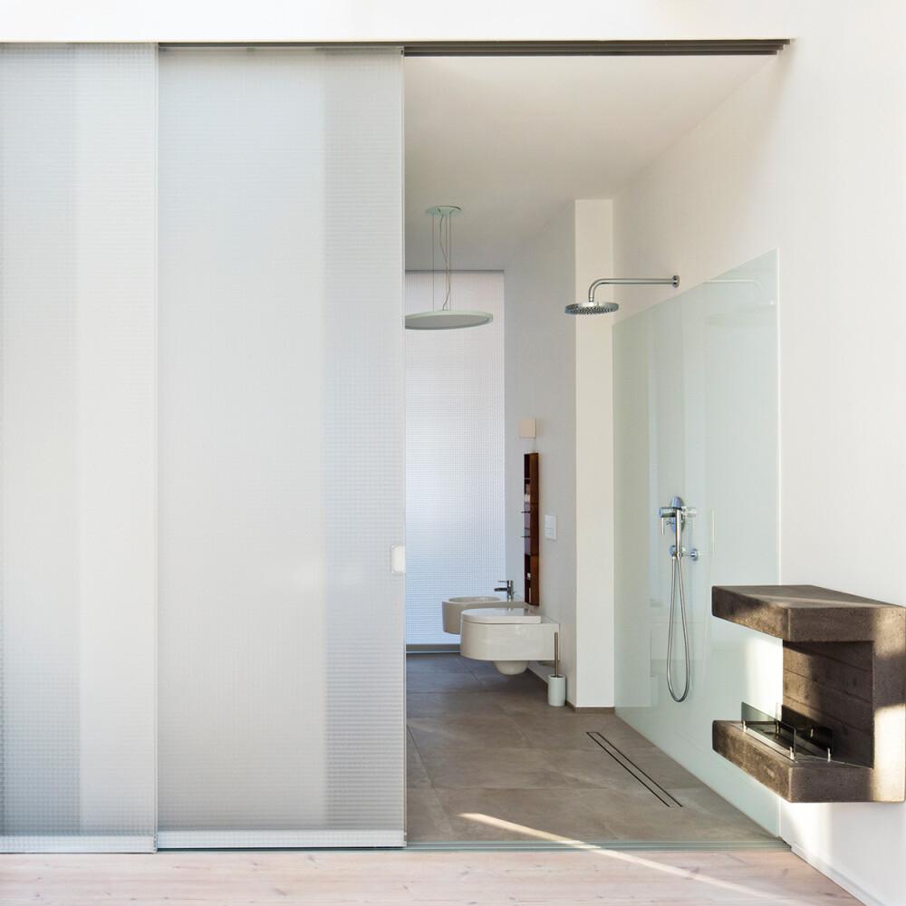 Wabenpaneel-Schiebetür WP00 DESIGN Cube satiniert Badezimmer Villa Raumteiler Raumhoch